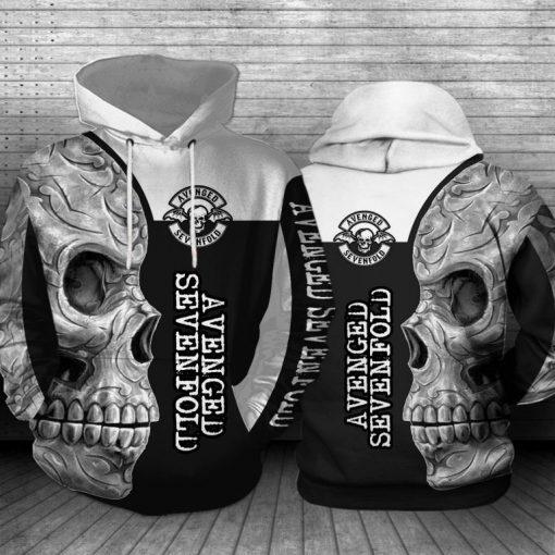Avenged Sevenfold Skull All 3D hoodie