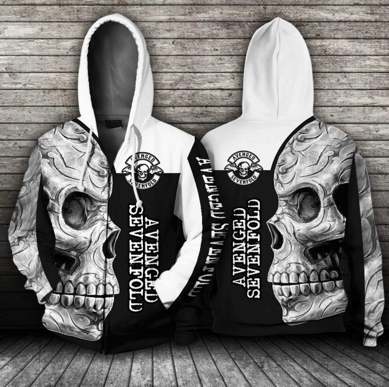 Avenged Sevenfold Skull All over print hoodie