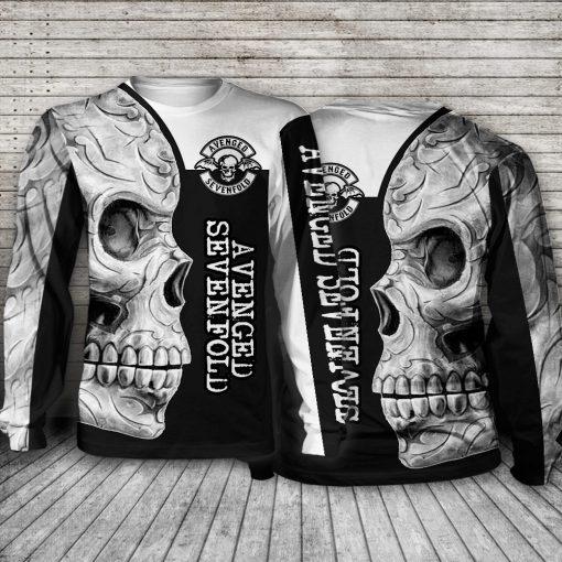 Avenged Sevenfold Skull All over print long sleeve