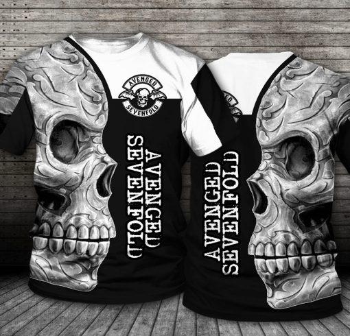 Avenged Sevenfold Skull All over print shirt