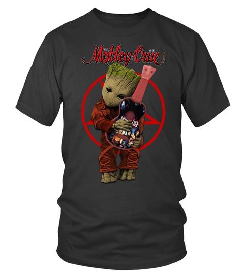 Baby Groot Hug Mötley Crüe T-shirt