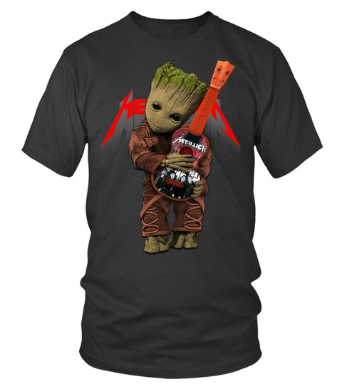 Baby Groot Hug Metallica T-shirt