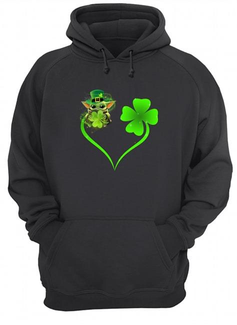 Baby Yoda Shamrock Love Heart Patrick's Day hoodie