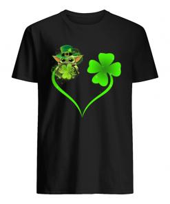Baby Yoda Shamrock Love Heart Patrick's Day shirt