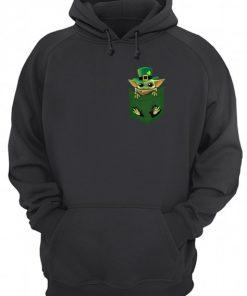 Baby Yoda St Patrick's day Pocket hoodie