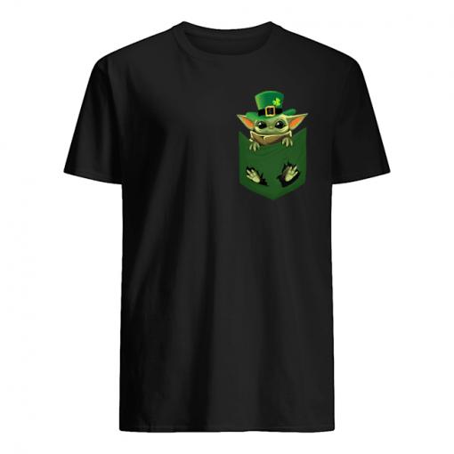 Baby Yoda St Patrick's day Pocket t-shirt