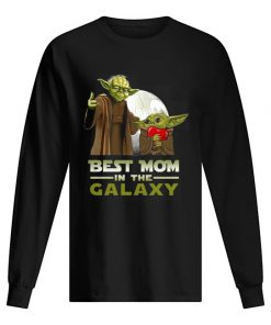 Best Mom in The Galaxy Baby Yoda long sleeved