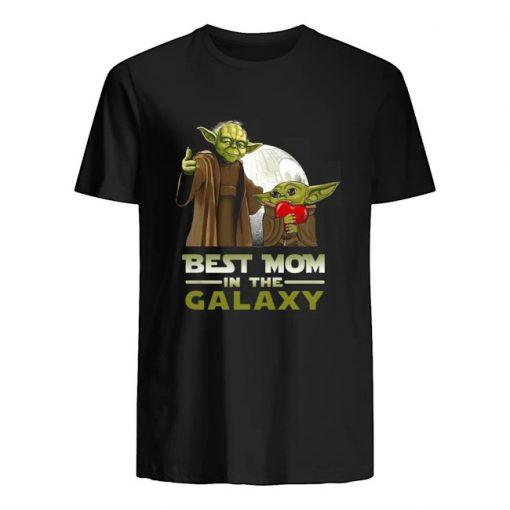 Best Mom in The Galaxy Baby Yoda shirt