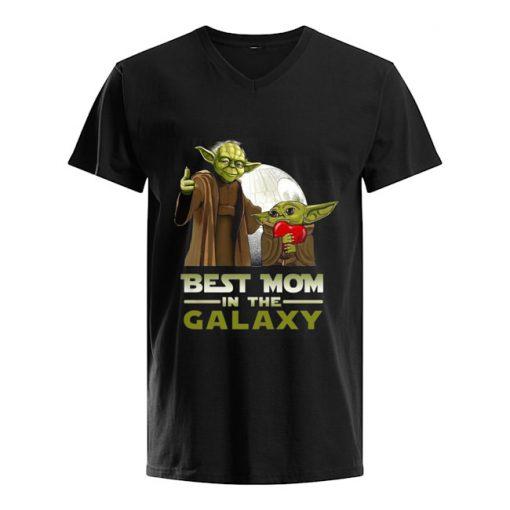Best Mom in The Galaxy Baby Yoda v-neck