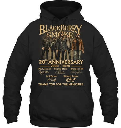 Blackberry Smoke 20th Anniversary Thank you for the memories hoodie