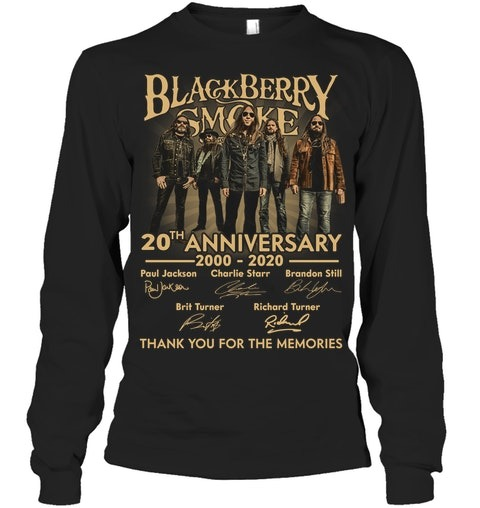 Blackberry Smoke 20th Anniversary Thank you for the memories long sleeved