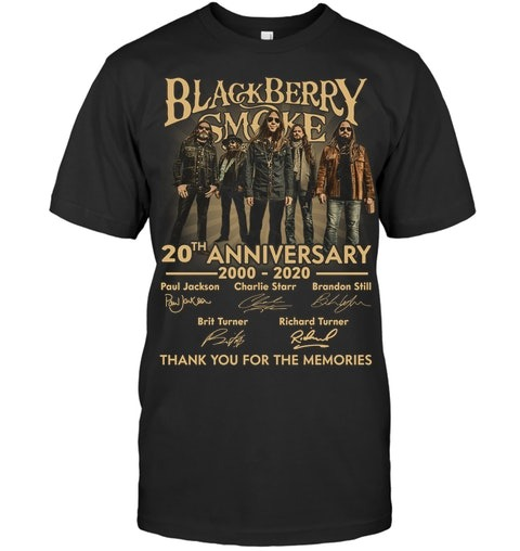 Blackberry Smoke 20th Anniversary Thank you for the memories shirt