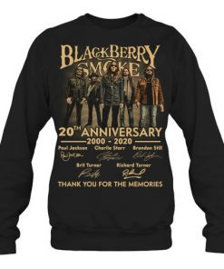 Blackberry Smoke 20th Anniversary Thank you for the memories sweatshirt