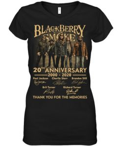 Blackberry Smoke 20th Anniversary Thank you for the memories v-neck