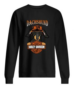 Dachshund hug Motor Harley Davidson Sweatshirt