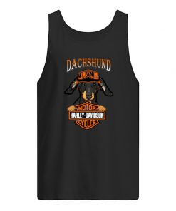 Dachshund hug Motor Harley Davidson Tank top