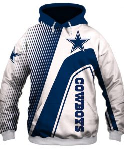 Dallas Cowboys stripes 3d hoodie