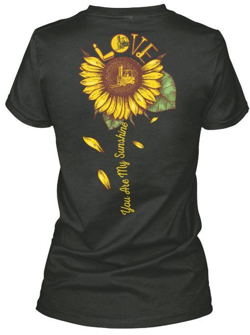 Forklift Operator You are my sunshine sunflower v-neck