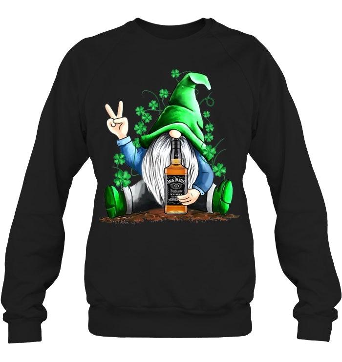 Gnomie hug Jack Daniel's St Patrick's Day Sweatshirt