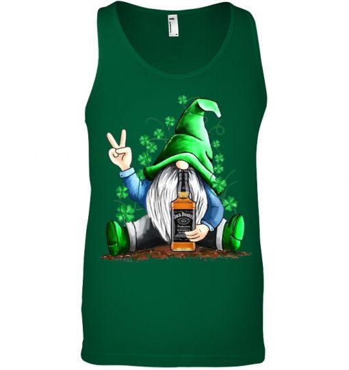Gnomie hug Jack Daniel's St Patrick's Day tank top