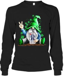 Gnomie hug Pabst Blue Ribbon St Patrick's Day long sleeved