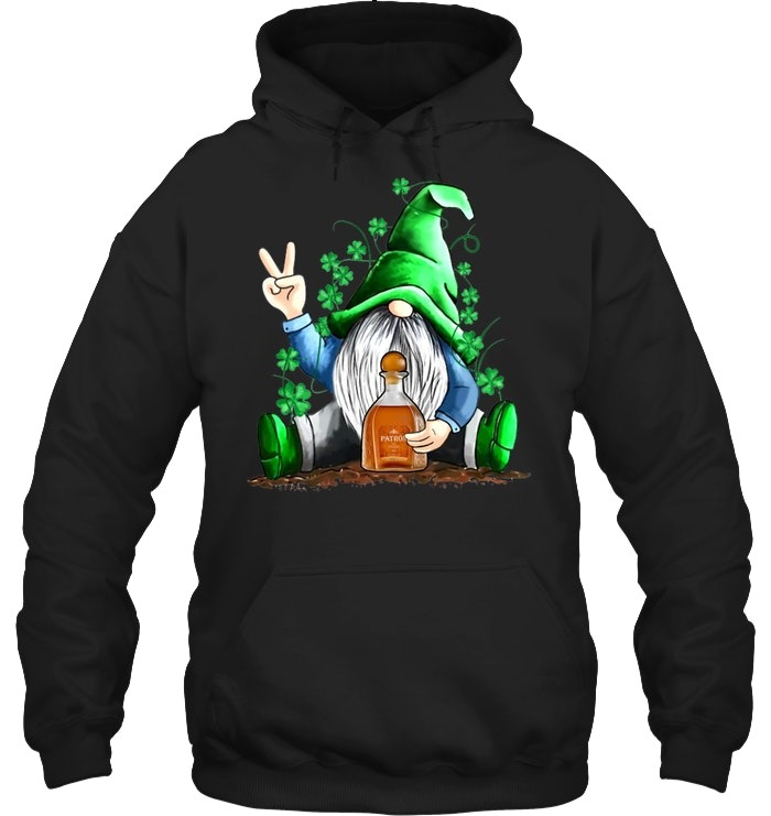 Gnomie hug Patrón St Patrick's Day hoodie