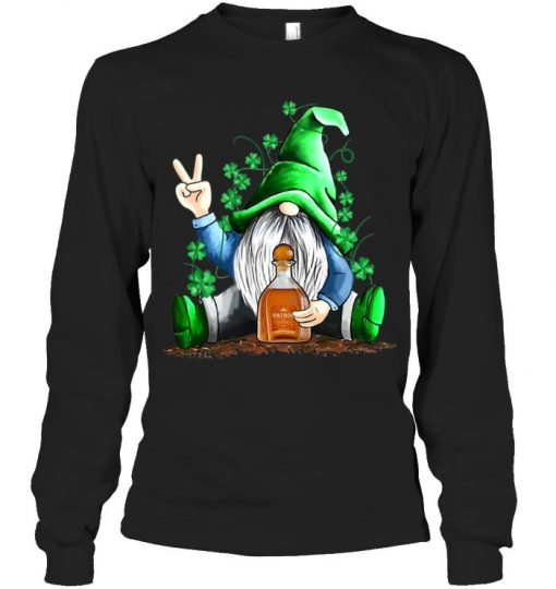 Gnomie hug Patrón St Patrick's Day long sleeve
