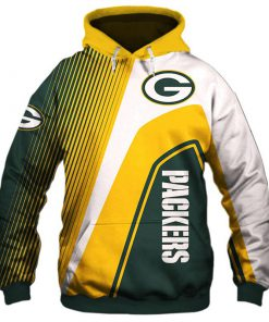Green Bay Packers stripes 3d hoodie