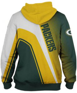 Green Bay Packers stripes 3d hoodie back