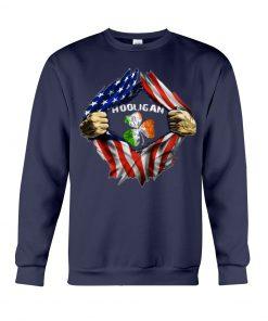 Hooligan St Patricks Day American flag Sweashirt