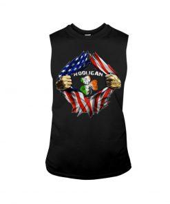 Hooligan St Patricks Day American flag tank top