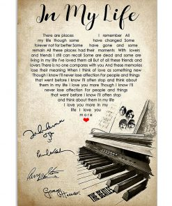 In My Life Lyrics The Beatles poster signatures poster