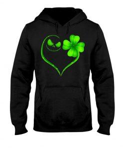 Jack Skellington Shamrock Love Patrick's Day hoodie
