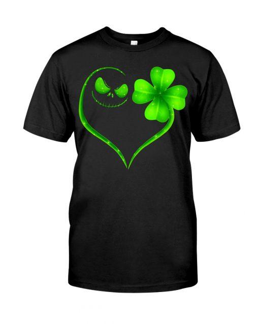 Jack Skellington Shamrock Love Patrick's Day shirt