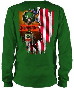 Jagermeister American Flag green long sleeve