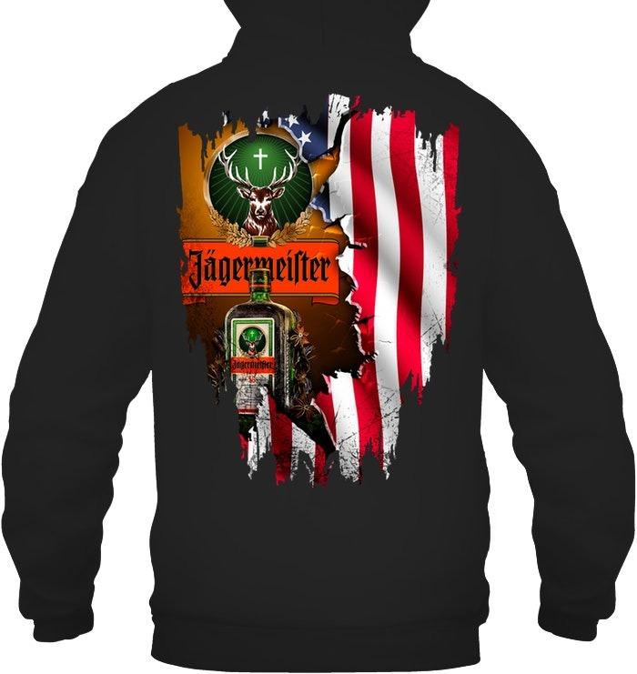 Jagermeister American Flag hoodie