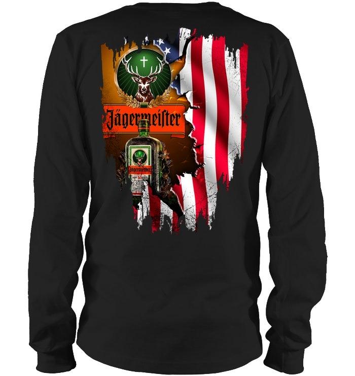Jagermeister American Flag long sleeve