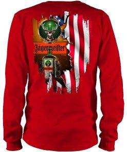 Jagermeister American Flag red long sleeve