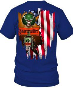 Jagermeister American Flag royal shirt