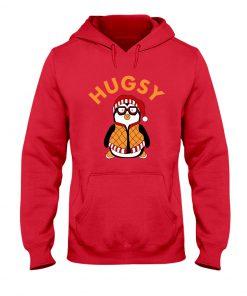 Joey's Friend Hugsy Penguin red hoodie