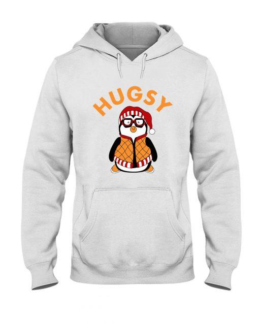 Joey's Friend Hugsy Penguin white hoodie