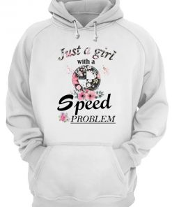 Just A Girl With A Speed Problem BMW floral hoodie