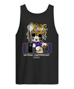 LSU Tigers football Mickey mouse National Championship 2020 Tank top
