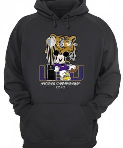 LSU Tigers football Mickey mouse National Championship 2020 hoodie