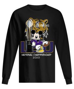 LSU Tigers football Mickey mouse National Championship 2020 long sleeved