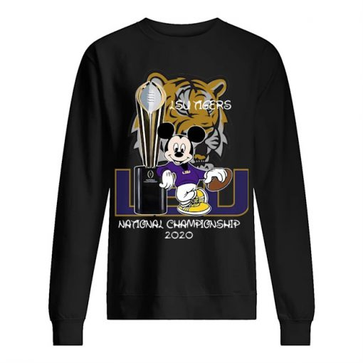 LSU Tigers football Mickey mouse National Championship 2020 sweatshirt