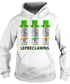 Lepreclawns Lucky Shamrock Drinking St Patrick's Day Hoodie