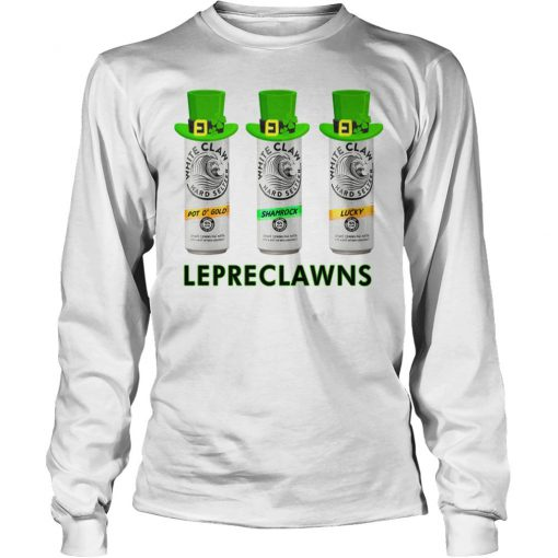 Lepreclawns Lucky Shamrock Drinking St Patrick's Day Long sleeve