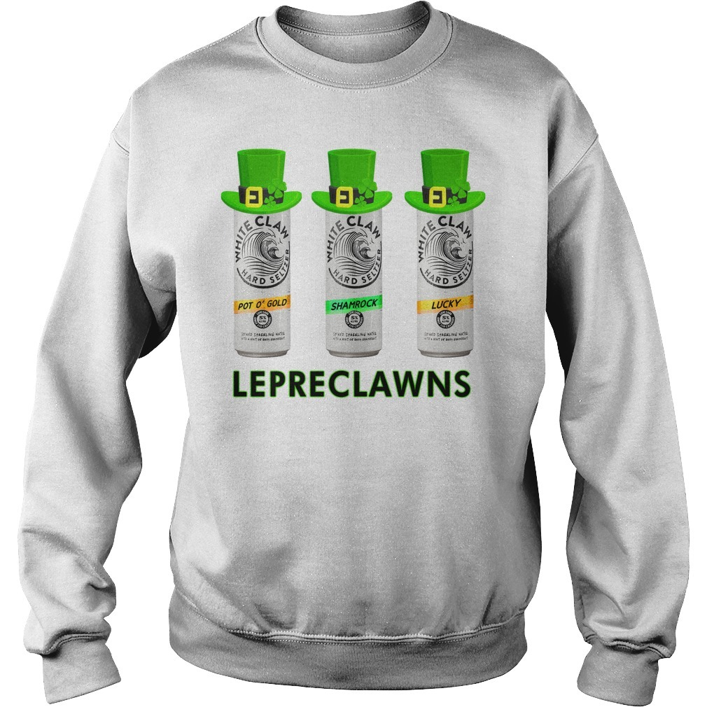 Lepreclawns Lucky Shamrock Drinking St Patrick's Day SweatShirt