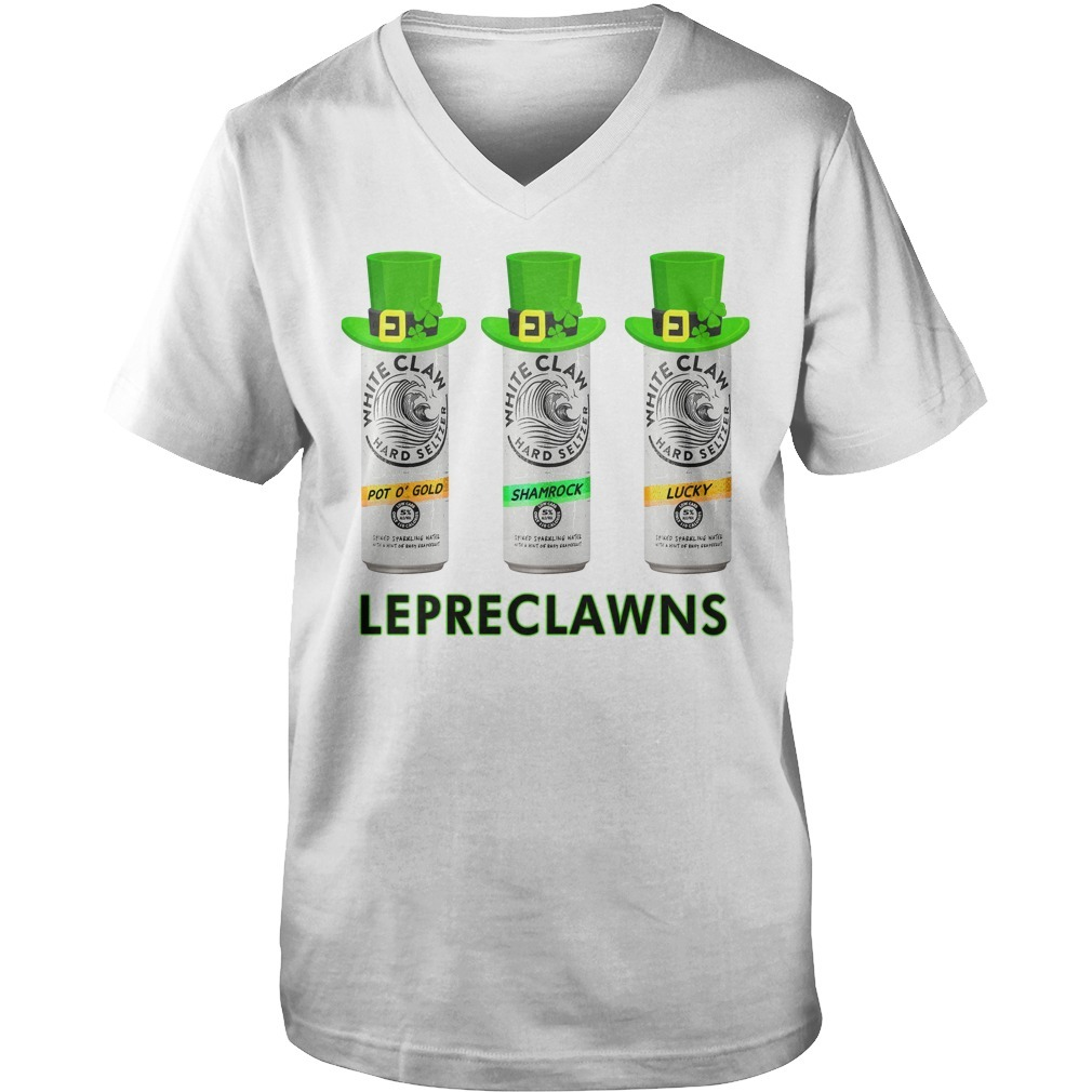 Lepreclawns Lucky Shamrock Drinking St Patrick's Day V-neck